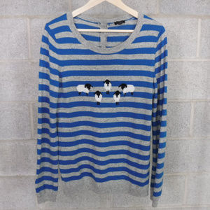 Talbots Striped Long Sleeve Wool Blend Sweater